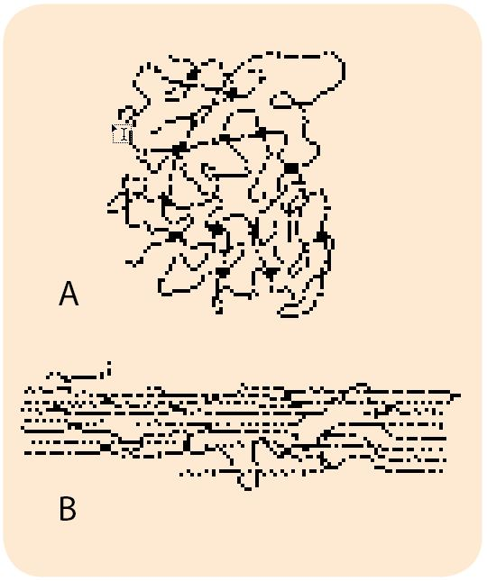 Spredt tværbundne kædemolekyler