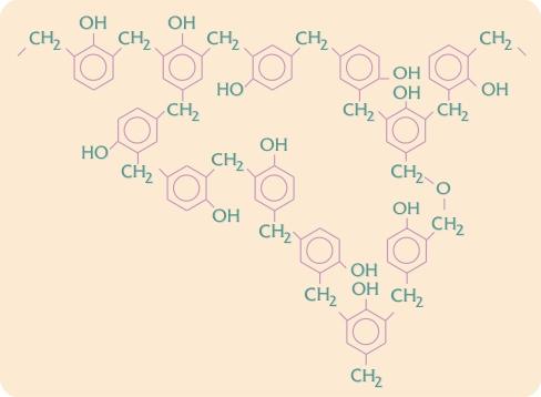 Phenolplast struktur