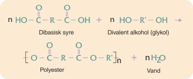 Kondensationpolymerisation af polyester