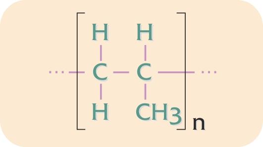 Kemisk grundopbygning af polypropylen