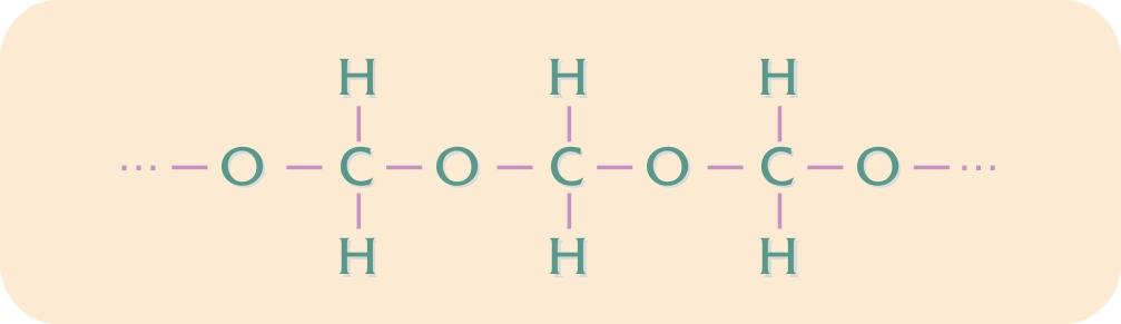 Kemisk opbygning af POM-homopolymer