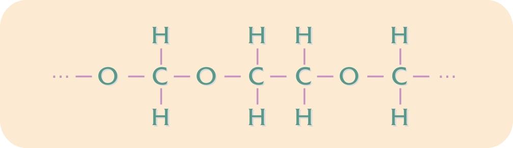 Kemisk opbygning af POM-copolymer