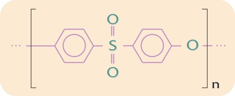 Kemisk opbygning af  polyethersulfon