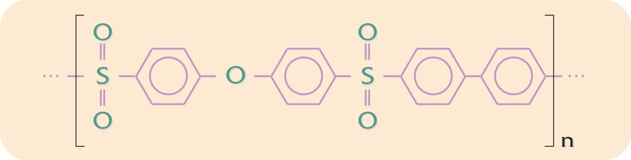 Polyarylsulfons kemiske opbygning