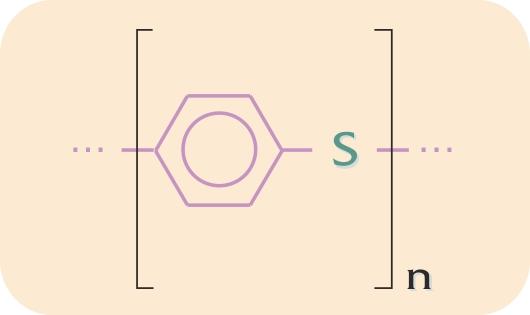 Kemisk sammensætning af  polyphenylensulfid