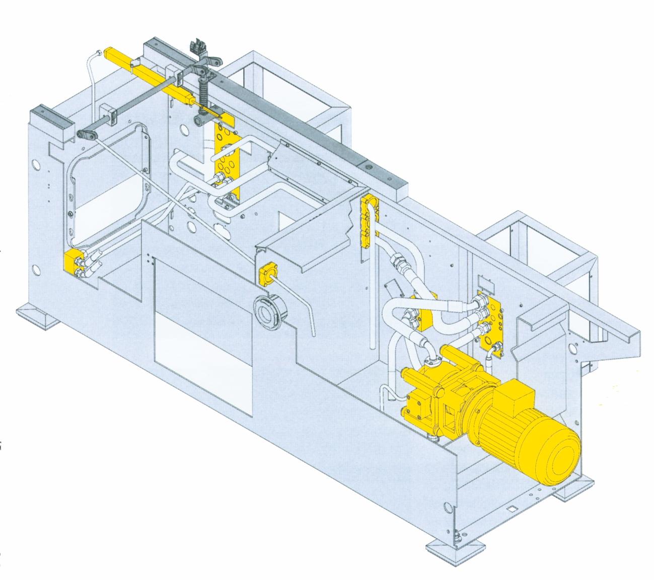 Maskinstativ til en sprøjtestøbemaskine