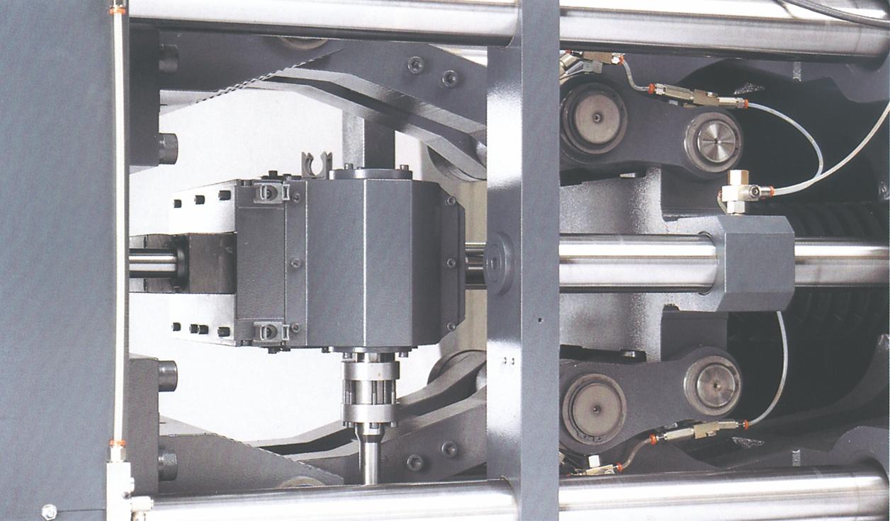 Fuldelektrisk lukkeenhed med fire-punkts-dobbeltknæled