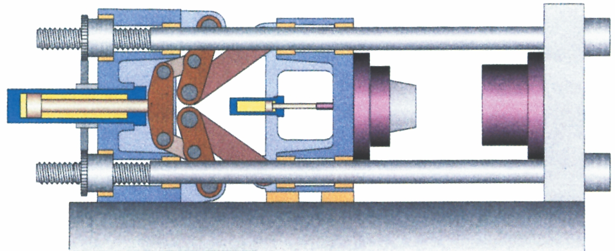Fem-punkts-knæledslukke-system med åbent værktøj