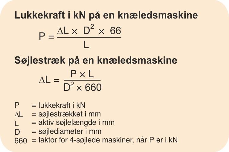 Eksempel på  beregning af lukketryk