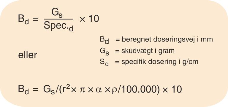 Formel for doserings- beregning