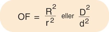 Formel for beregning af omsætnigsfaktoren