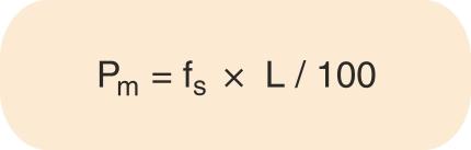 Formel til udregning af middel fyldetryk