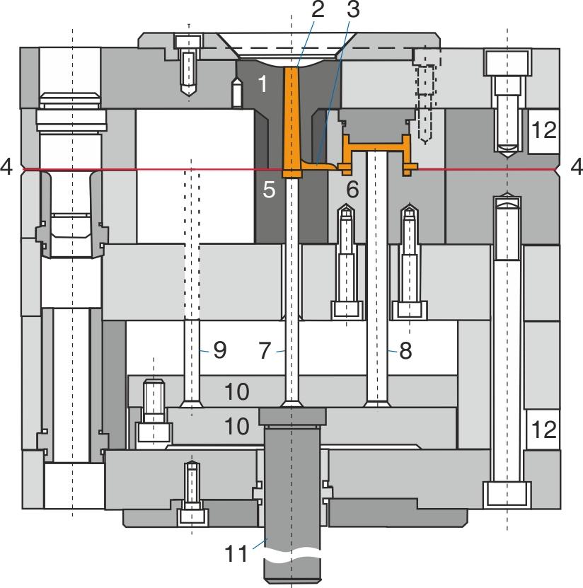 Snitbillede af et simpelt, almindeligt to-pladeværktøj