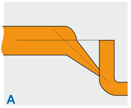 A. Dette tunnelindløb giver størst mulighed for efterfyldning og har mindre tendens til fristråledannelse