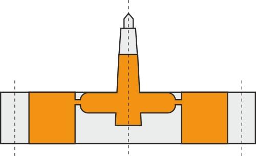 Skærmindløb i forbindelse med et tandhjulsværktøj