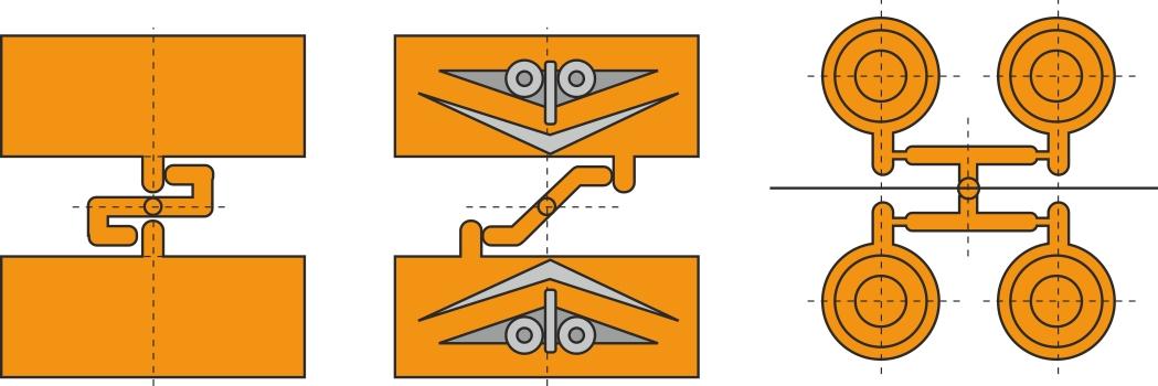 Forskellige konstruktioner med stropindløb