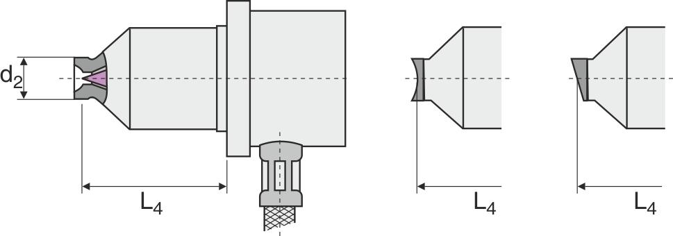 Eksempel på åben varmedyse, der tilpasses efter emnets kontur eller overflade omkring indløbspunktet.