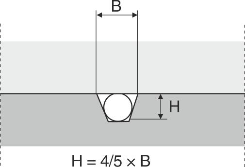Fordelerkanal med trapezformet tværsnit