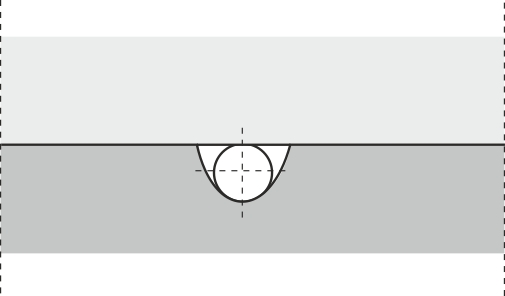 Fordelerkanal med afrundet, trapezformet tværsnit