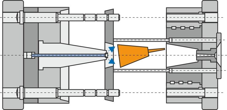 Trepladeværktøj med fire trækstænger  eller stopstænger