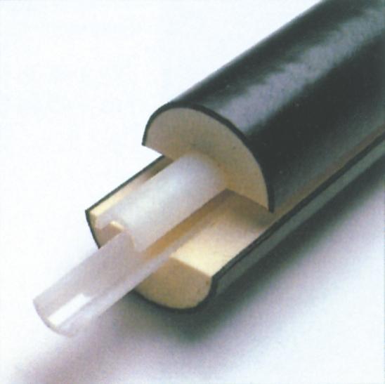Præisolerede rør til fjernvarme med inderrør af plast