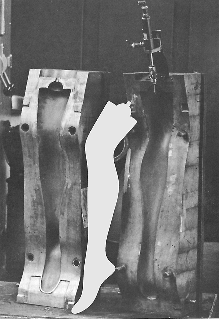 Benprotese opblæst ved hjælp af nål