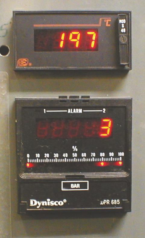 Display tryk og temperatur
