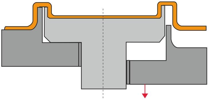 Form med udstøder som afformningshjælp (mekanisk afformningshjælp)