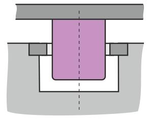 Simpelt overstempel til form med underskæring