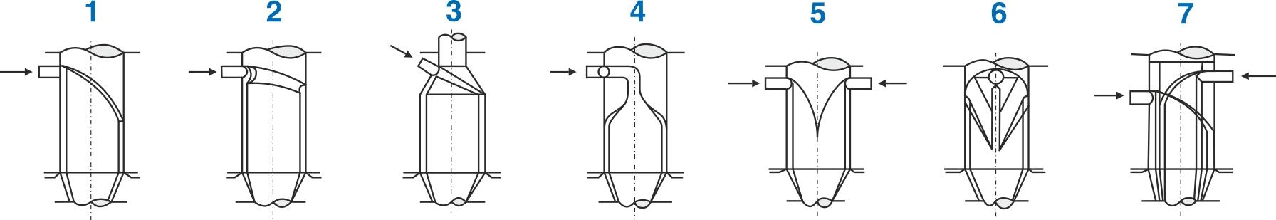 Forskellige udformninger af dornen for at opnå bedst mulig sammenflydning af plasten
